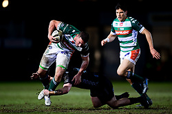 Guinness PRO14, Rodney Parade, Newport, UK 06/03/2020<br /> Dragons vs Benetton Rugby<br /> Michele Lamaro of Benetton Rugby is tackled by Jacob Botica of Dragons<br /> Mandatory Credit ©INPHO/Ryan Hiscott
