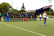 Black Sticks anthem for their final game of the Black Sticks v Canada Test Matches 21 October 2018. Copyright photo: Alisha Lovrich / www.photosport.nz