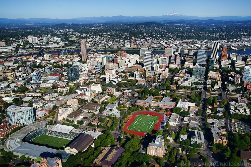 City of Portland featuring Jen-Weld Field & Mount Hood (3)