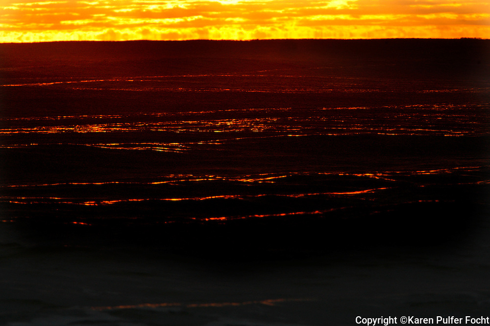 Sunset on the Destin, Florida beach.