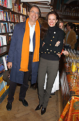 ALEXANDER APSIS and BETTINA VON HASE at a party to celebrate the publicarion of The Meaning of Tingo by Adam Jacot de Boinod held at the Daunt Bookshop, 83 Marylebone High Street, London on 18th October 2005.<br />