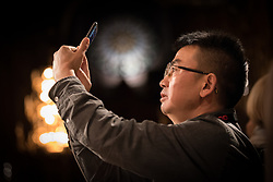 31 October 2018, Uppsala, Sweden: Mr He Wen from the Amity Foundation, China. On Wednesday evening, participants in the ACT Alliance 2018 general assembly visited the Uppsala Cathedral for a guided tour.