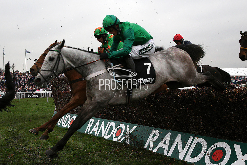 Winner Terrefort (7) with Daryl Jacob during The Betway Mildmay Novices' Steeple Chase on Ladies Day at Aintree, Liverpool, United Kingdom on 13 April 2018. at Aintree, Liverpool, United Kingdom on 13 April 2018. Picture by Craig Galloway.