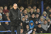 Portsmouth Manager Avram Grant does not enjoy his opening game in charge. Portsmouth v Manchester United (1-4), Barclays Premier League Fratton Park, Portsmouth, 28th November 2009.