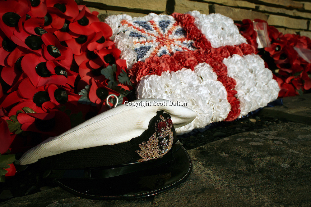 Offerings left at the British War Cemetery in San Carlos, on Sunday, March 19, 2007. San Carlos is where British forces landed in their offensive to retake the islands from the Argentinean occupation. (Photo/Scott Dalton)