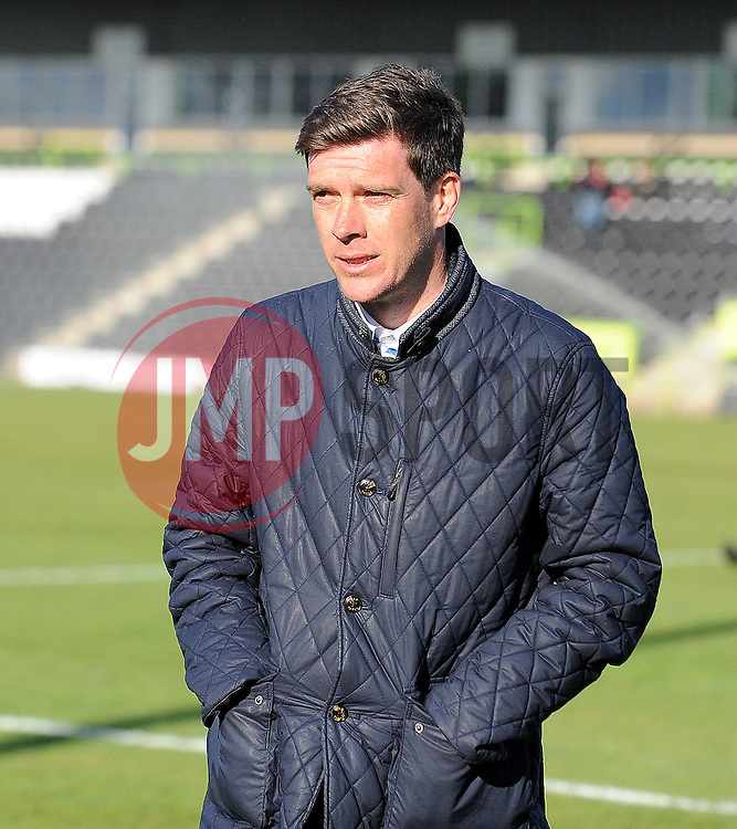 Bristol Rovers Manager, Darrell Clarke - Photo mandatory by-line: Neil Brookman/JMP - Mobile: 07966 386802 - 29/04/2015 - SPORT - Football - Nailsworth - The New Lawn - Forest Green Rovers v Bristol Rovers - Vanarama Football Conference