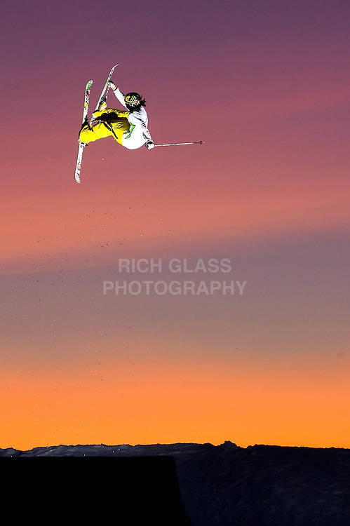 Sunset photo shoot at Momentum Ski Camp on Blackcomb Mtn. in Whistler, BC.