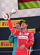 Sebastian Vettel of Scuderia Ferrari takes second place in the Spanish Formula One Grand Prix at Circuit de Catalunya, Barcelona<br /> Picture by EXPA Pictures/Focus Images Ltd 07814482222<br /> 14/05/2017<br /> *** UK &amp; IRELAND ONLY ***<br /> <br /> EXPA-EIB-170514-0118.jpg