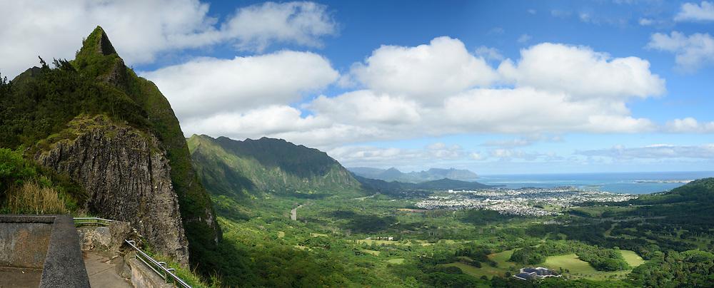 USA, Hawaii, Oahu, Honolulu,Nu'uani pali Lookout