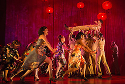 """© Licensed to London News Pictures. 16/10/2013. London, England. Pictured: Robert Lonsdale at top. The Musical """"From Here to Eternity"""" opens at the Shaftesbury Theatre on 23 October 2013 starring Darius Campbell, Siubhan Harrison, Robert Lonsdale and Rebecca Thornhill. This brand new musical is directed by Tamara Harvey and lyrics by Tim Rice, music by Stuart Brayson and script by Bill Oakes. Photo credit: Bettina Strenske/LNP"""