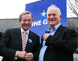 Enda kenny & John Bruton in Castlebar on saturday...Pic Conor McKeown