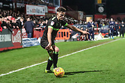Forest Green Rovers Liam Shephard(2) on the ball during the EFL Sky Bet League 2 match between Cheltenham Town and Forest Green Rovers at Jonny Rocks Stadium, Cheltenham, England on 29 December 2018.