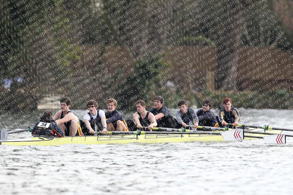 2012.02.25 Reading University Head 2012. The River Thames. Division 1. Southampton University Boat Club A IM3 8+