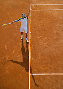 Jerzy Janowicz of Poland competes in men's singles in the thrid round while Day Seventh during The French Open 2013 at Roland Garros Tennis Club in Paris, France.<br /> <br /> France, Paris, June 01, 2013<br /> <br /> Picture also available in RAW (NEF) or TIFF format on special request.<br /> <br /> For editorial use only. Any commercial or promotional use requires permission.<br /> <br /> Mandatory credit:<br /> Photo by &copy; Adam Nurkiewicz / Mediasport