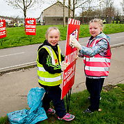 04.04.2017         <br /> St. Brigids National School, Singland Limerick were off the mark early for TLC3. <br /> Pictured during the clean up were, Maddison O'Neill and Lucy Kelly. Picture: Alan Place