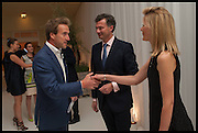 BEN FOGLE; LAURENT FENIOU; MRS. LAURENT FENIOU, Cartier dinner in celebration of the Chelsea Flower Show. The Palm Court at the Hurlingham Club, London. 19 May 2014.