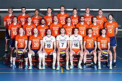 20150506 NED: Selectie Nederlands volleybal team mannen, Arnhem<br />Op Papendal werd het Nederlands team volleybal seizoen 2015-2016 gepresenteerd / Teamfoto <br />©2015-FotoHoogendoorn.nl / Pim Waslander