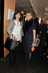 Left to right, LUCY MANNERS and SARAH KEELING at a ladies lunch in support of Maggie's Barts hosted by Judy Naake, Clara Weatherall and Caroline Collins at Le Cafe Anglais, 8 Porchester Gardens, London W2 on 19th March 2013.