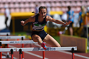 Sacha Alessandrini (FRA) competes in 100 Metres Hurdles during the IAAF World U20 Championships 2018 at Tampere in Finland, Day 5, on July 14, 2018 - Photo Julien Crosnier / KMSP / ProSportsImages / DPPI