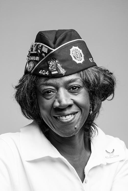 Marian L. Whitfield<br /> Air Force<br /> E-4<br /> Personnel Specialist<br /> Aug. 1966 - Aug. 1970<br /> Vietnam Era<br /> <br /> Veterans Portrait Project<br /> St. Louis, MO