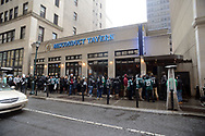 Philadelphia Eagles fans lineup for entry to misconduct Tavern Sunday, February 04, 2018 in Philadelphia, Pennsylvania.  WILLIAM THOMAS CAIN / For The Inquirer)