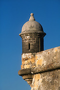 Garita (sentry box) at El Morro fortress, San Juan National Historic Site, Old San Juan, Puerto Rico..
