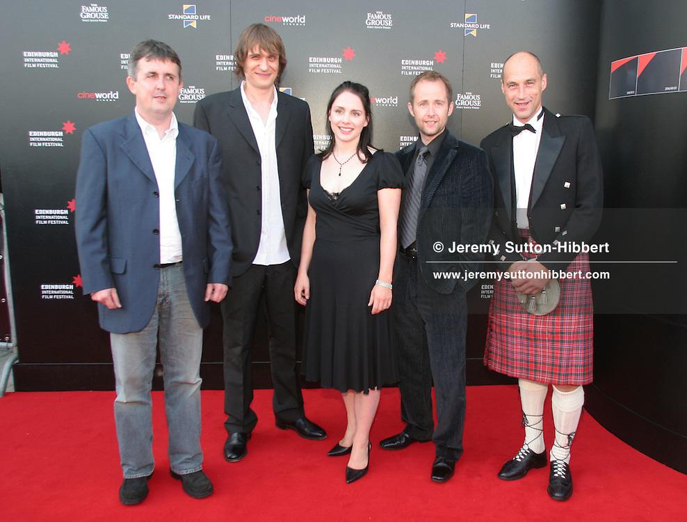 'THE FLYING SCOTSMAN', WITH DIRECTOR DOUGLAS MACKINNON, NIALL FULTON,LAURA FRASER,  BILLY BOYD, AND CYCLIST GRAEME OBREE. OPENING NIGHT FILM FOR EDINBURGH INTERNATIONAL FILM FESTIVAL. Monday 14th August 2006.