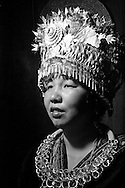 Kaili, Guizhou, China, August 10th 2007: Portrait of a 35 year old Miao woman..Photo: Joseph Feil