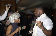 Alexia Somerville and Anton Stephans. Book launch party for 'Boxing Ballerinas' by Tony McGee. The Ivy. 26 January 2001.© Copyright Photograph by Dafydd Jones 66 Stockwell Park Rd. London SW9 0DA Tel 020 7733 0108 www.dafjones.com