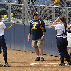 Staff photos by Tom Kelly IV<br /> Neumann's Katie Halter (3) juggles before the game against Gwynedd Mercy College.