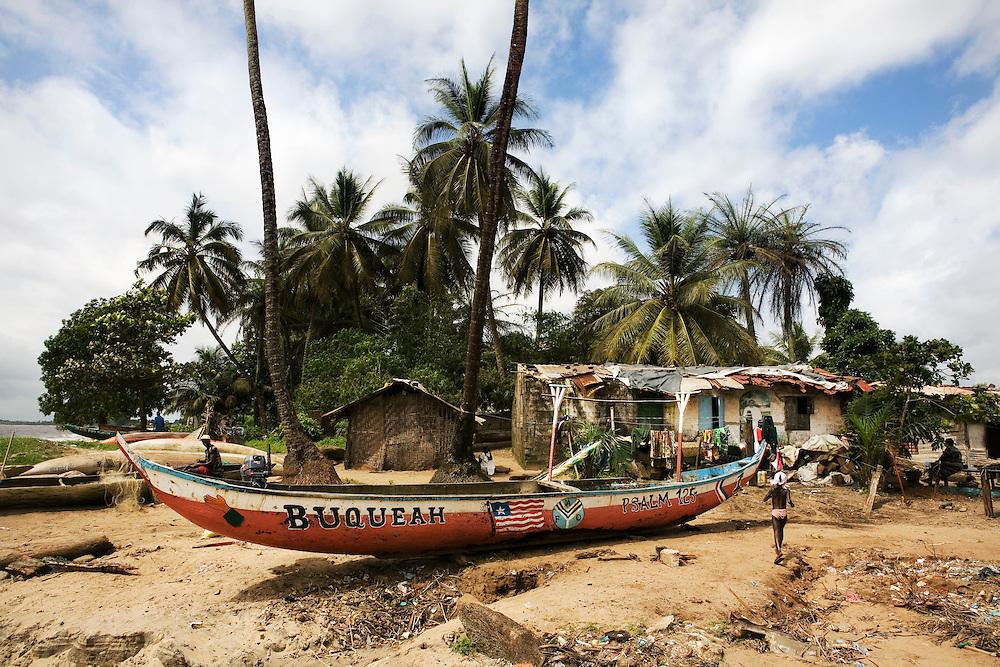 Fanti town, fishermens community, Buchanan, Liberia.