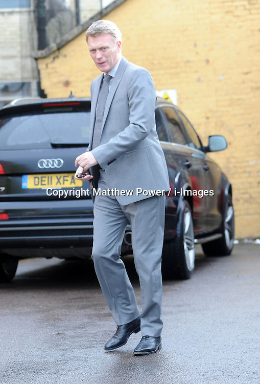 New Manchester Utd manager David Moyes arrives at the Cambridge Union debating society to give a talk on leadership, UK. May 13 2013.Photo by: Matthew Power / i-Images.<br />