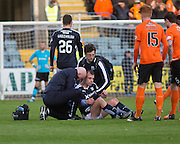 Dundee&rsquo;s Paul McGowan in agony after shoulder injury - Dundee v Dundee United, Ladbrokes Scottish Premiership at Dens Park<br /> <br /> <br />  - &copy; David Young - www.davidyoungphoto.co.uk - email: davidyoungphoto@gmail.com