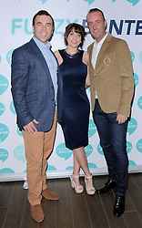 Allen Scriven, Jane Warrington and Michael Caine attend launch party of Fuzzy Banter a new dating app which keeps users faces blurry untill they choose to reveal themselves to their matches. Held at La Sala, Chigwell Road, Essex on Monday 16 March 2015