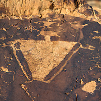 Petroglyphs from the Price Meet Up panel, showing human-like figures. Alongside the Green River in Gray Canyon, near Green River, Utah