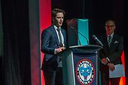 KELOWNA, CANADA - MARCH 19:  Konrad Belcourt at the Kelowna Rockets Awards Ceremony on March 19, 2017 at the Kelowna Community Theater in Kelowna, British Columbia, Canada.  (Photo By Cindy Rogers/Nyasa Photography,  *** Local Caption ***
