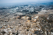 Aerial view of the Dome of the Rock, Temple Mount Old City, Jerusalem