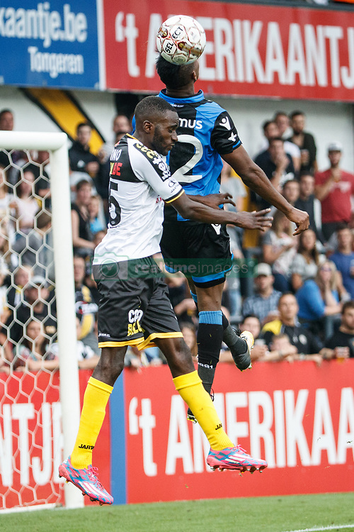 July 29, 2017 - Lokeren, BELGIUM - Lokeren's Bo Geens and Club's Emmanuel Bonaventure Dennis fight for the ball during the Jupiler Pro League match between Sporting Lokeren and Club Brugge, in Lokeren, Saturday 29 July 2017, on the first day of the Jupiler Pro League, the Belgian soccer championship season 2017-2018. BELGA PHOTO KURT DESPLENTER (Credit Image: © Kurt Desplenter/Belga via ZUMA Press)