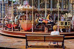 The carousel in Honfleur, Normandy, France