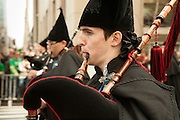 Galician piper in the parade
