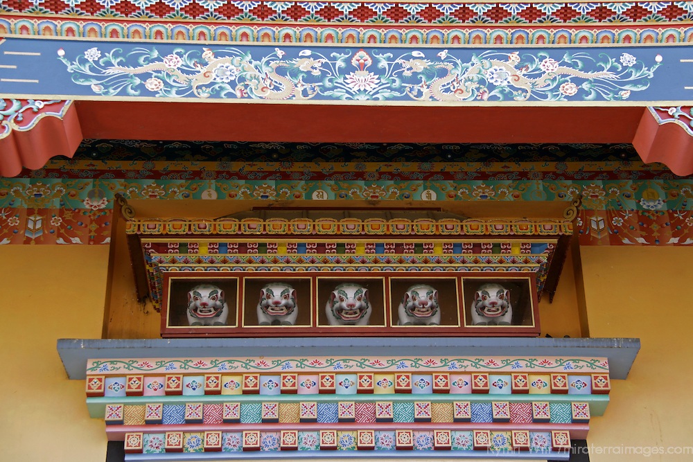 Asia, Nepal, Kathmandu. Architectural detail of Nepali Temple.