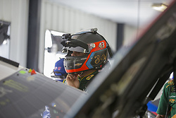 June 1, 2018 - Long Pond, Pennsylvania, United States of America - Darrell Wallace, Jr (43) hangs out in the garage during practice for the Pocono 400 at Pocono Raceway in Long Pond, Pennsylvania. (Credit Image: © Justin R. Noe Asp Inc/ASP via ZUMA Wire)