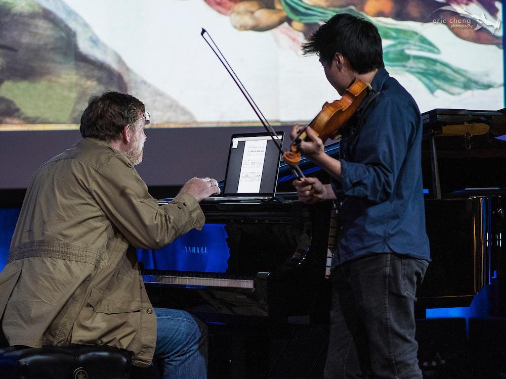 Charles Yang and Michael Hawley rehearse #egconf #eg8