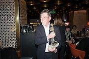 JOHN HURT WITH HIS LIBERATUM AWARD, Liberatum Cultural Honour  for John Hurt, CBE in association with artist Svetlana K-Lié.  Spice Market, W London - Leicester Square
