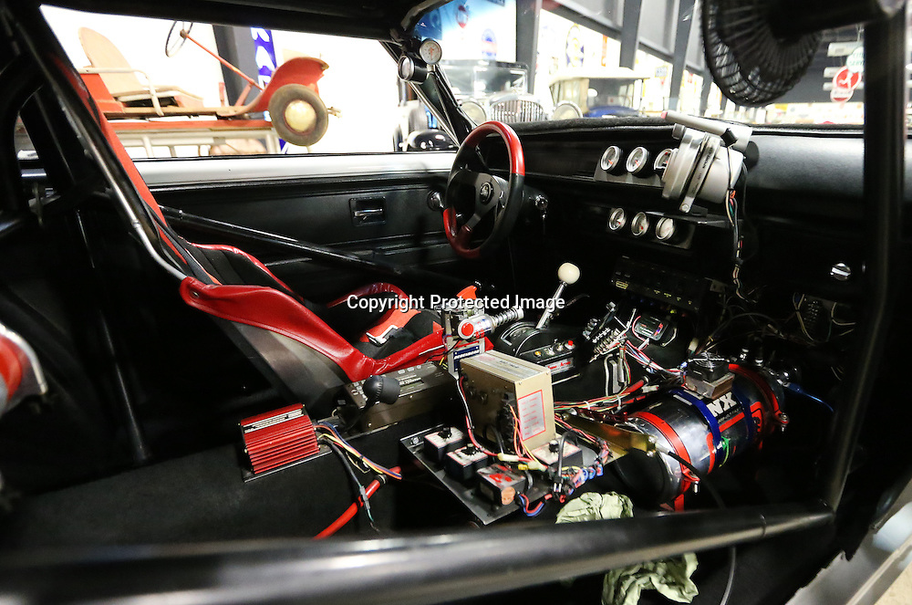 Adam Robison | BUY AT PHOTOS.DJOURNAL.COM<br /> The interior of a 1972 Chevrolet Vega, set up for racing, owned by Rick Knox, is one of 18 dragsters on display at the Tupelo Automobile Museum. The exhibit runs to March 4.