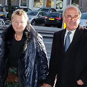 NLD/Amsterdam/20181027 - Herdenkingsdienst Wim Kok, frans Weisglas en partner Nynke Kuperus