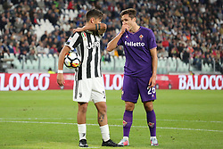 September 20, 2017 - Turin, Piedmont, Italy - Paulo Dybala (Juventus FC) and Federico Chiesa (ACF Fiorentina) during the Serie A football match between Juventus FC and ACF Fiorentina at Allianz Stadium on 20 September, 2017 in Turin, Italy. .Juventus win 1-0 over Fiorentina. (Credit Image: © Massimiliano Ferraro/NurPhoto via ZUMA Press)