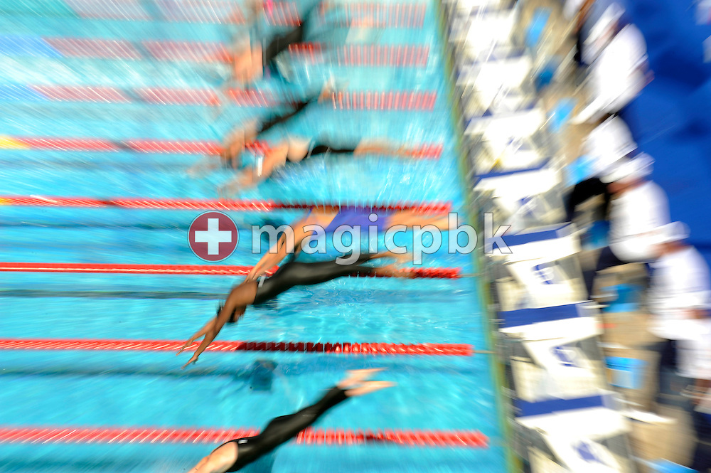 Competitors of heat 5 start in the women's 50m butterfly heats at the 13th FINA World Championships at the Foro Italico complex in Rome, Italy, Friday, July 31, 2009. (Photo by Patrick B. Kraemer / MAGICPBK)