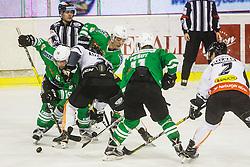 Ales Music of HDD Olimpija during ice-hockey match between HDD Olimpija Ljubljana and Dornbirn Buldogs in EBEL League 2016/17, on February 4th, 2017 in Hala Tivoli, Ljubljana, Slovenia. Photo by Grega Valancic / Sportida