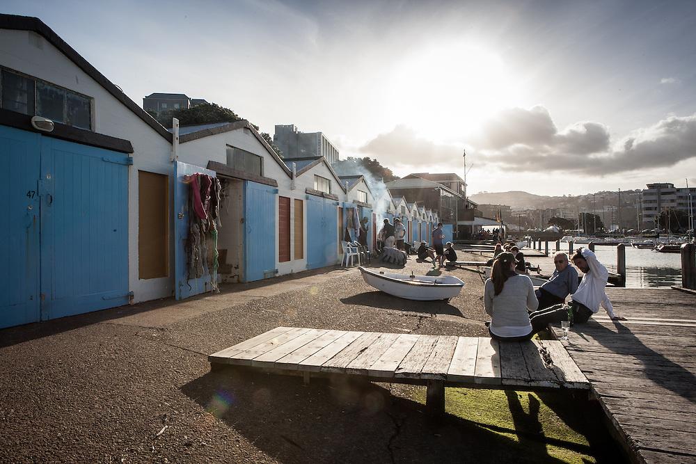 CLIENT: Life and Leisure Magazine<br /> DESCRIPTION: Historic Wellington boat sheds